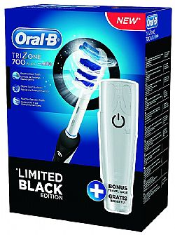 Oral-B Ηλεκτρική Οδοντόβουρτσα Trizone 700 Limited Edition Black + Travel Case (D16.513.U)